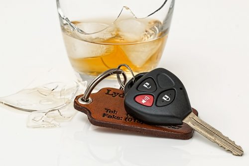 keys and alcohol prior to DUI